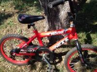 "16"" kids bikes  $20 BOYS Next Rocket: scuffs from good"