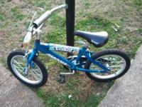 "I got a blue 16"" Magnate Exhaust bike that my son has"