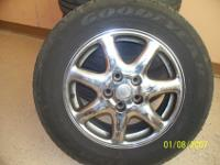 "2000 16"" Cadillac Sts Chrome Rims & Tires 235/60/16""In"