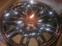 4 Cadillac chrome wheels/rims in excellent condition;
