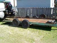 I have a 16' heavy duty dual wheel car trailer for