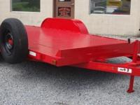 "16' Car Trailer with 82"" Steel Deck, Aluminum Wheels,"