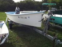 16+ Casper Skiff with 40 elec start mariner. Fresh