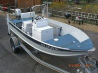 16' Aluminum Center Console Sylvan boat with 45 HP