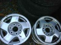 "16"" chevy 6 lug truck rims no center caps $120 obo"