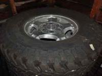 "Four 16"" Chevy Truck Wheels Firestone Destination MT 6"