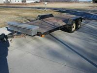 For sale is a 16' Chilton tandem trailer with trailer