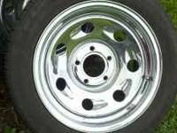 Selling a set of 4 16 chrome rims, 5 lug with like