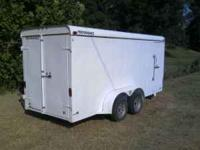 16' performance brand enclosed trailer. two 3500lb