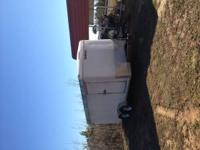 16' Enclosed Trailer Back of trailer lets down into a