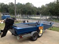 16' aluminum hull with a 1984 70 HP Mercury  with power