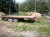 16 ft flatbed trailer good floor lights and elec brakes