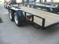 FLAT BED TRAILER WITH BRAKES ON REAR AXLE ALL NEW