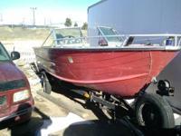 16 foot aluminum fishing boat starts and runs needs a
