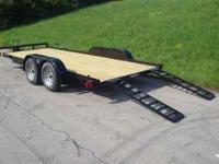 16' Lowboy car hauler *(2) 3500 lb brake axles