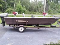 16 ft bass boat, it has 35 hp westbend motor that has