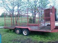 16 foot stock trailer with removable stock racks. bill