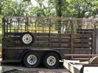 Stock trailer in great shape. 6 foot wide. Treated