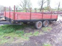 16 foot tandem axle trailer, frame is heavy duty