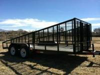 **16 Foor Trailer** Brand new! Bumper pull/5 hole lugs