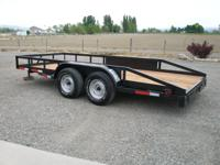 Like new 16.5 foot trailer with new deck.  Great shape