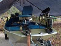 1987 Whiteline boat with aluminum trailer and 60 hp