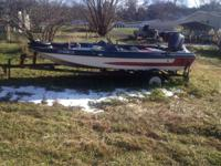 16 ft Astroglass  bass boat 40 hp outboard boat runs