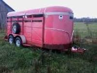 i have a 16 ft ponderosa cattle trailor it has good