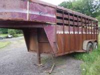 selling a 1992 bison livestock trailer,could use some