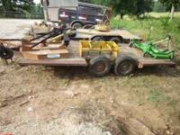 tandem axle, 2 inch ball, 15 inch tires, ugly. trailer
