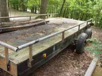 16 ft trailer for sale. Uses a 2 5/8 inch ball hitch.