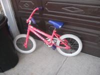 "This is a girls 16"" Rallye ""Pretty in Pink"" bicycle."