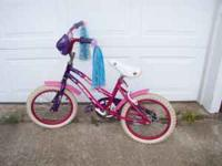 "16"" girls Huffy bicyle in good condition, decorated"