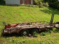 For Sale - 16' Dual axle trailer with electric brakes