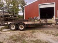 16' 2- 7000# axles with brakes 2 5/16 coupler slide in