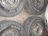 8 Bolt rims and tires off of a 02 chevy 2500. Rims have