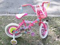 Almost like brand new 16 inch Barbie Bike with training