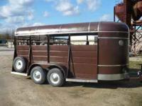 16' Long x 7' High Kiefer Built stock trailer. Good