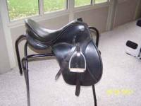 "Kieffer Black 16"" All Purpose Saddle. Excellent"