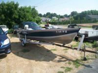1994 Lund 16' aluminum fishing watercraft, live well, 3
