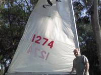 16' MFG Sidewinder Sailboat in good condition. Good