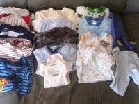 1 swaddle 2 onesies 2 pants 11 sleepers ask for $10 OBO