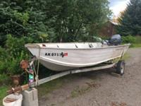 16' Lowe skiff with 4-stroke Yamaha and EZ Loader