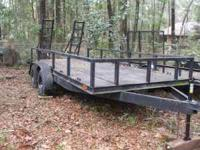 16' trailer in great condition..steel floor ..see