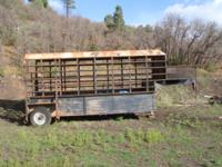 16' Gooseneck Stock/Horse Trailer. 10,000# oil filled