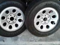 "16"" Stock Rims 6 Lugs came off a 2004 Silverado Tires"