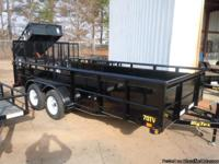 This unit is a 2013 Big Tex 70TV-16BK, 7' X 16', tandem