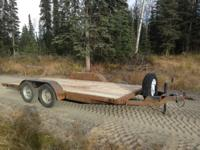 I have a great 16' tandem axle tilt deck car hauler