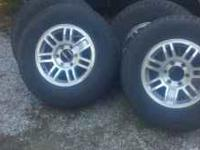 "16"" tires are 245-75r-16s goodyears. Wheels are GM 6"