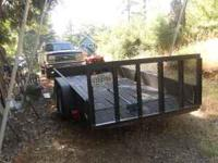 2005 16' x 6 1/2 ' custom made utility trailer. Trailer